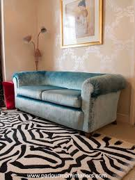 Antique Chesterfield Sofas by Antique Chesterfield Sofa In Designers Guild Fabric In Haringey