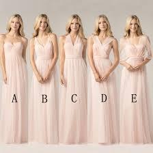 blush pink bridesmaid dresses shop 2017 convertible bridesmaid dresses blush pink custom
