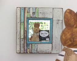 Picture Frames Made From Old Barn Wood Wood Pallet Mirror Etsy