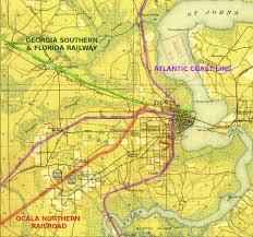 Map Of Ocala Fl The Rentz Lumber Co And The Ocala Northern Rr