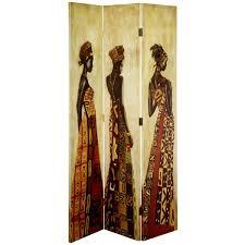 Ebay Room Divider - 3 panel folding chic african ladies screen room divider seporator