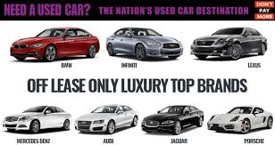 luxury used cars for sale and top brands at offleaseonly