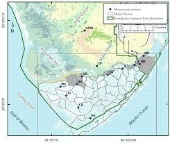 Everglades National Park Map Joseph Park Oceanography