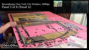 ravensburger new york city window 32000 piece full timelapse