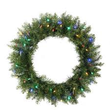 24 pre lit northern pine artificial wreath multi color