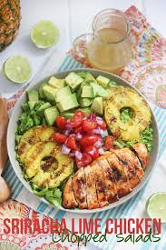 sriracha lime chicken chopped salad video lexi u0027s clean kitchen