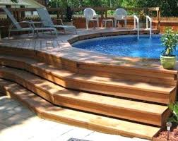 Backyard Above Ground Pool Ideas Above Ground Pool Designs Torobtc Co