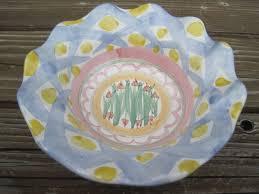 Mackenzie Childs Barn Sale Furniture Mackenzie Childs Fluted Bowl Dish Aalsmeer Pottery