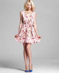 french connection dress hummer voile printed in pink lyst