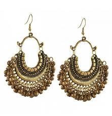 golden ear rings images Divamm golden afghan earrings german golden earrings silver jpg
