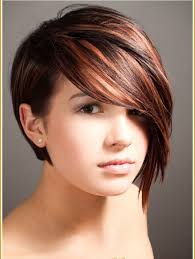 hairstyles lond front short back with bangs long in front short in back hairstyles short back and long front