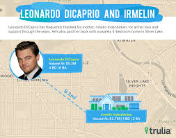 Leonardo Dicaprio Home by Mapping How Close Celebrities Live To Their Mothers Curbed La