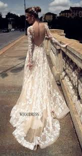 Lace Wedding Dress 2016 Full Lace A Line Wedding Dresses Spaghetti Neck Backless