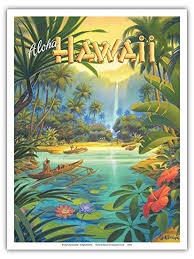 Hawaii Travel Art images Pacifica island art aloha hawaii vintage style jpg