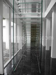 stair design straight staircase glass steps glass frame without risers