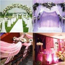 Wedding Chair Sash Wedding Organza Gauze Curtain Sheer Roll Wedding Chair Sash Bow