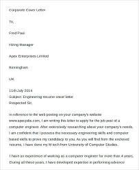 corporate cover letter 7 cover letters free sle exle format