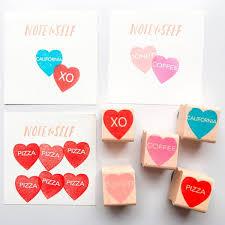 conversation heart paper pastries conversation heart rubber sts paper by parcel