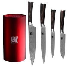 online get cheap kitchen knife with stand aliexpress xyj brand pcs set stainless steel knife utility santoku chef slicing and kitchen