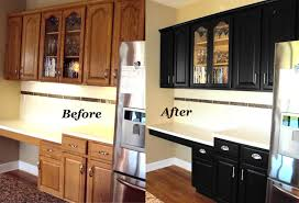 Black Paint For Kitchen Cabinets Oak Kitchen Cabinets Painted Black Before And After