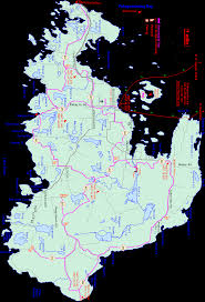 Michigan Trail Maps by Michigan Snowmobiling Drummond Island Snowmobile Trail Drummond