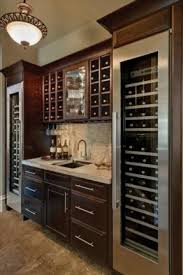 Built In Drinks Cabinet Bar Cabinet With Wine Fridge Foter