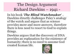 Richard Dawkins Blind Watchmaker The Design Argument Richard Dawkins U2013 Richard Dawkins Frs