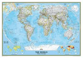 wall maps national geographic classic world wall map maps
