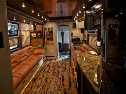 celebrity motor homes hgtv zac brown s tour bus interior