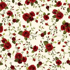 seamless floral pattern with roses roses flower outline