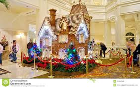 gingerbread house at grand floridian hotel editorial stock image