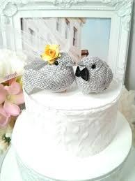 burlap cake toppers burlap wedding cake toppers heart topper birds rustic barn