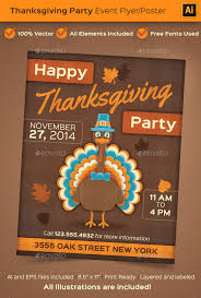 thanksgiving event poster or flyer by beyourself graphicriver