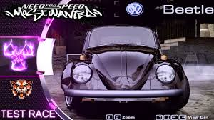 volkswagen beetle purple volkswagen beetle classic nfs most wanted 2005 mod test race youtube