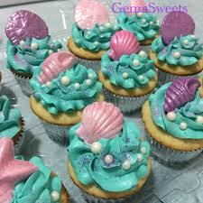 mermaid cupcakes the sea mermaid cupcakes by gema my creations