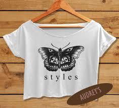 harry styles tattoo shirt one direction tshirt women u0027s crop top