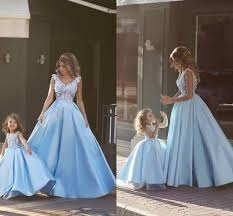 2016 prom dresses a line mother and daughter v neck appliques