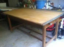 Tabletop Drafting Table Antique 1940 S Hamilton Drafting Table Maple Tabletop Solid Oak Ebay