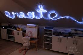 Rope Lights For Bedroom To Create Rope Light Word Wall