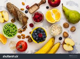 food rich fiber healthy food background stock photo 522591229