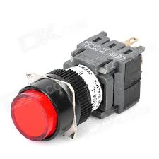 cheap diy 6 pin push button switch with led red light
