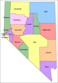 nevada counties map map of nevada