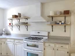 Kitchen Cabinets Open Shelving Kitchen Open Shelving Polished Gray Ceramic Wall Tile Smooth White