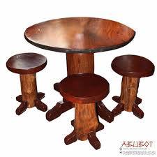 round coffee table with 4 stools muebles de abubot