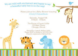 design jungle theme baby shower invitations