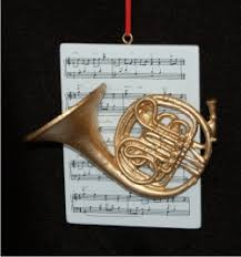 horn with musical score personalized