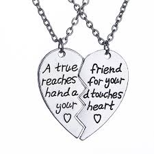 friendship heart necklace images A true friend reaches for your hand and touches your heart jpg