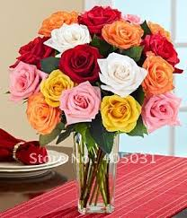 Different Color Roses Decorative Flowers U0026 Wreaths Silk Different Color Single Rose For