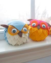 a bit of diy felt owls felt and styrofoam