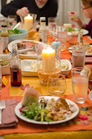 decorations inspired filled clear glass thanksgiving table